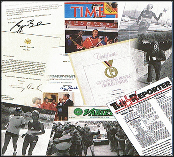 Collage of Ultra Distance Runner Stan Cottrell's Achievements